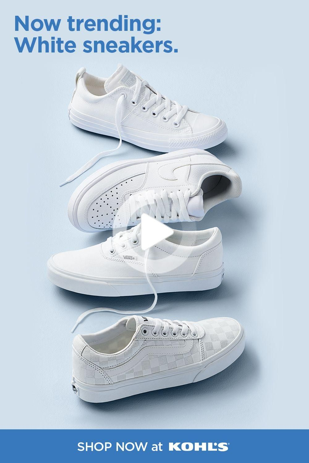 White athletic shoes, Hype shoes, Sneakers
