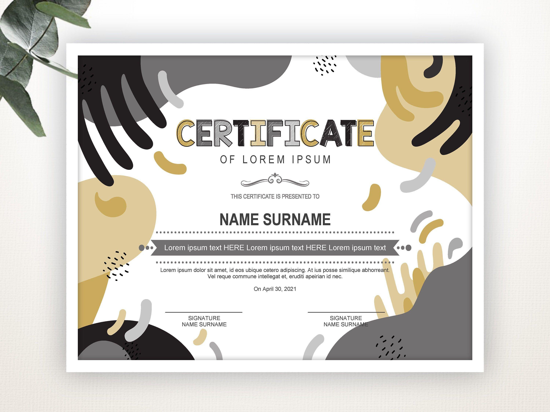 Printable Certificate Template Editable Certificate Template Blank Certificate Colorful Kid S Diploma Kid S Award Instant Download Desain Web Sertifikat Penghargaan Desain Grafis