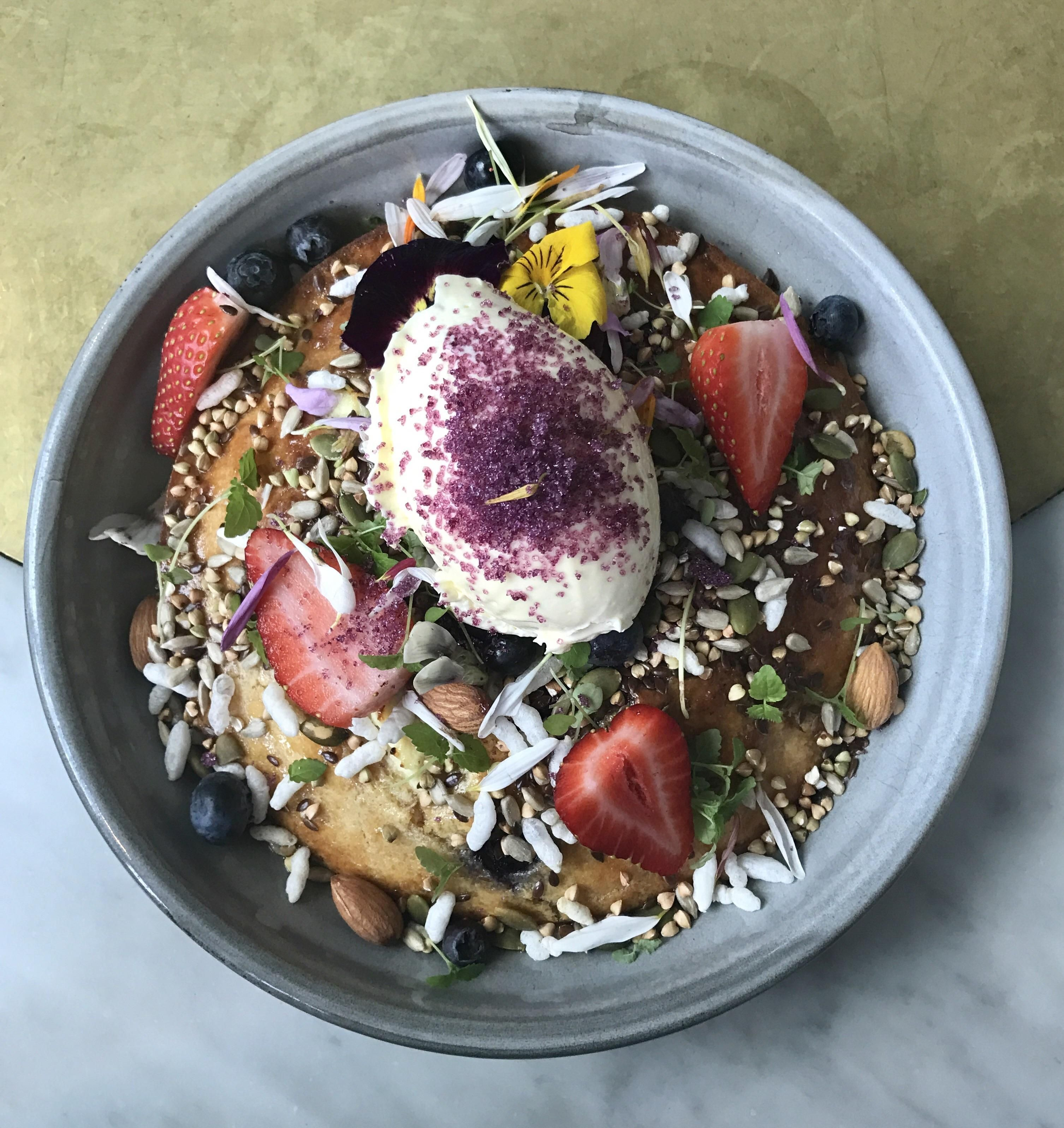 [I Ate] Lemon ricotta pancake! #recipes #food #cooking #delicious #foodie #foodrecipes #cook #recipe #health
