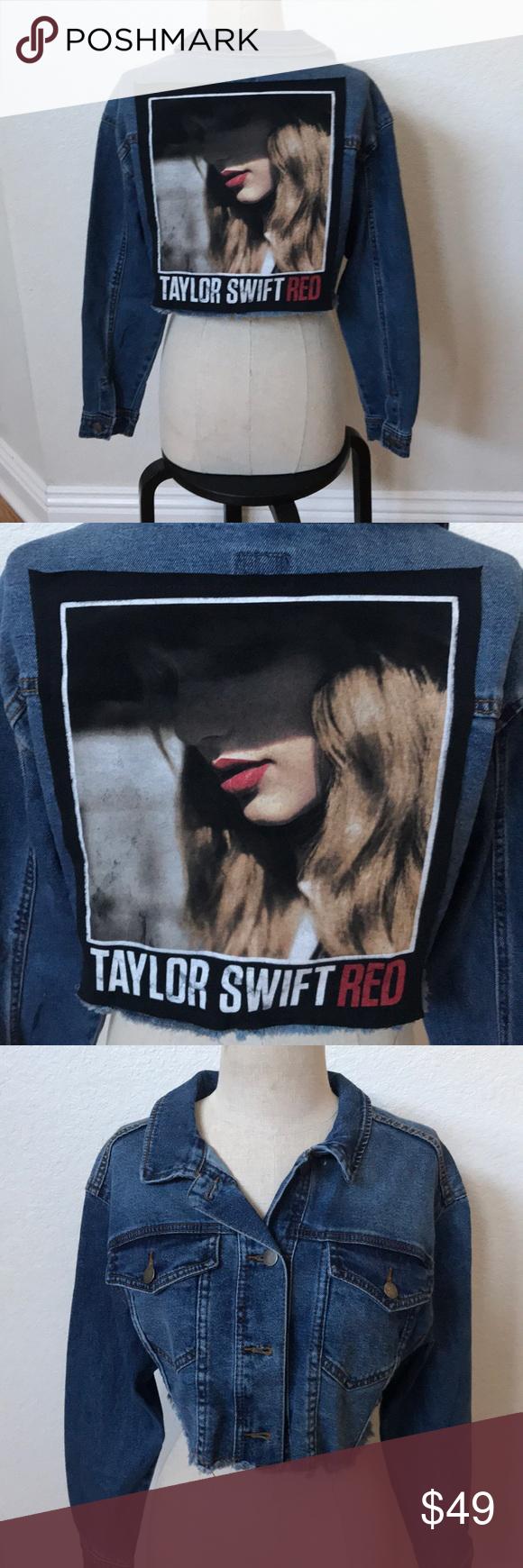 Taylor Swift Upcycled Jean Jacket Small Nwt Upcycle Jeans Jean Jacket Jackets [ 1740 x 580 Pixel ]