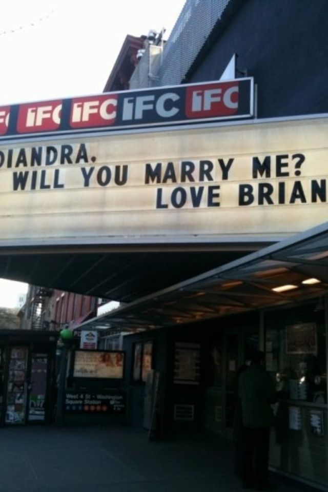 My Husbands Movie Theater Marquee Proposal Amazing Idea For Movie