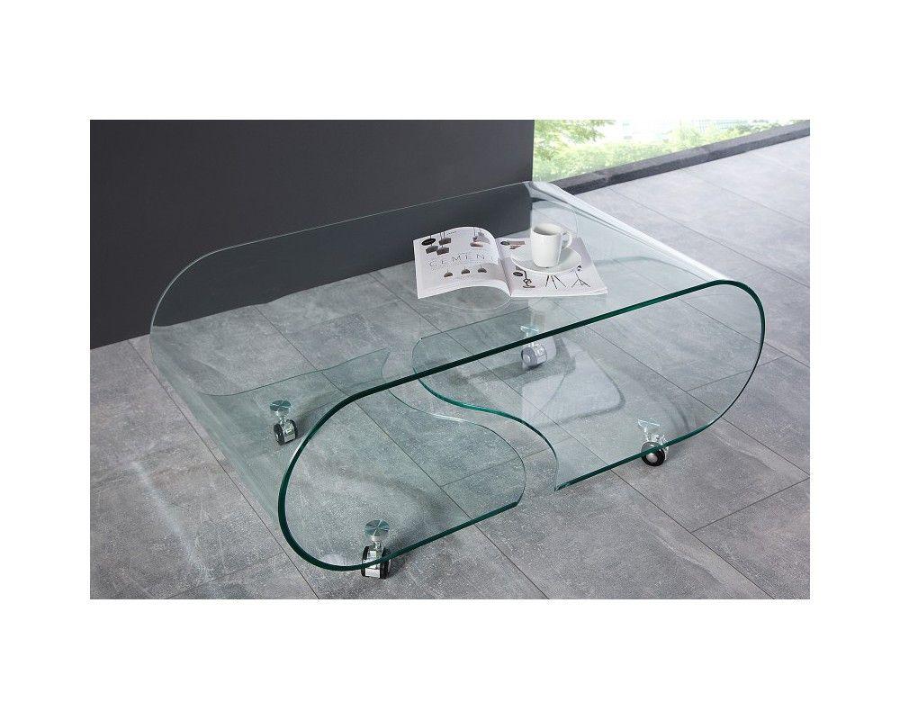 table basse transparente table basse de