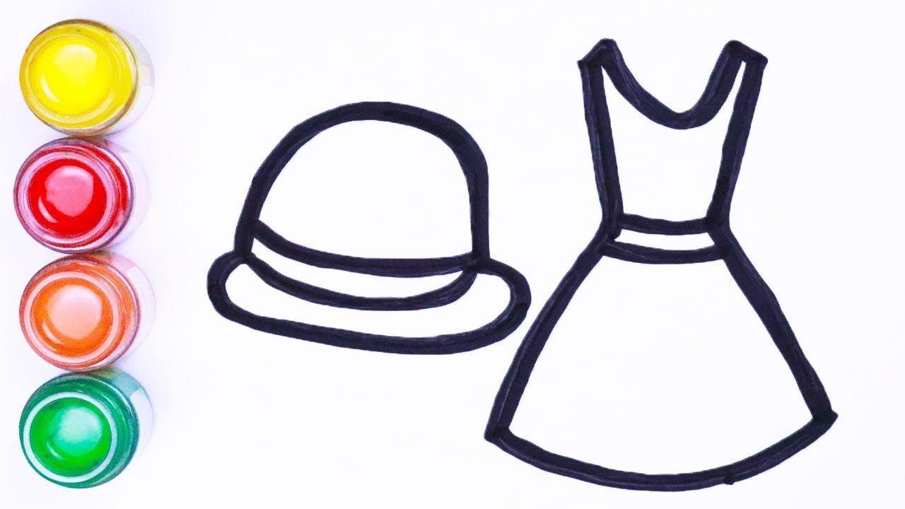 Menggambar Dan Mewarnai Kain Dan Topi Wanita Cara Menggambar