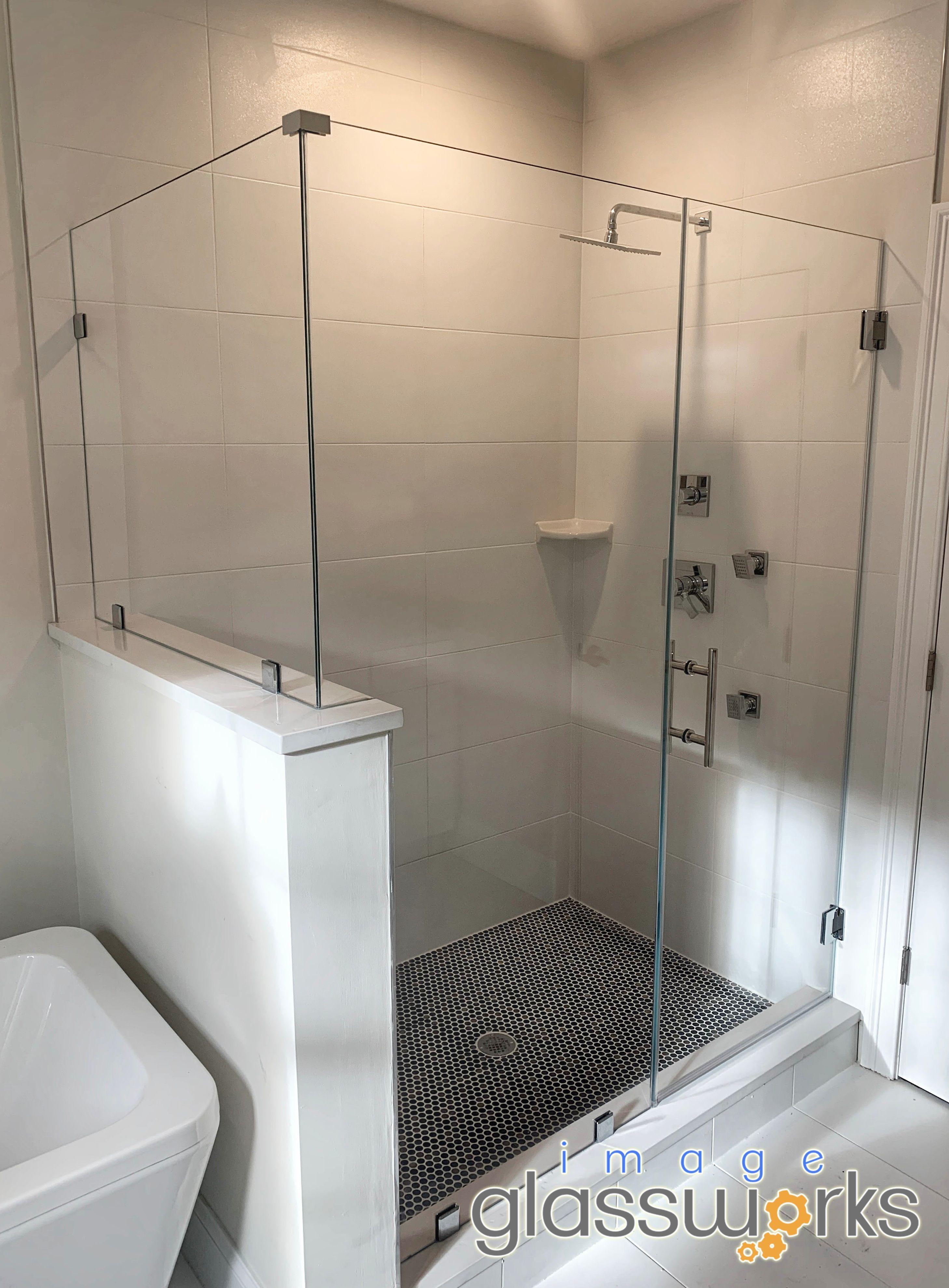 Beautiful 3 Panel Shower Door Using Low Iron No Green Tint Glass