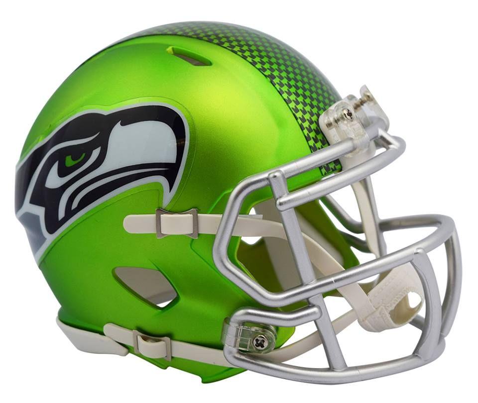 Seattle Seahawks 1983-2001 Riddell Throwback Mini Helmet