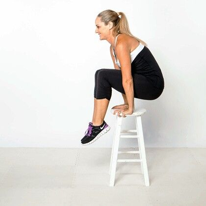 abdominal hold  sit tall on the edge of a sturdy chair