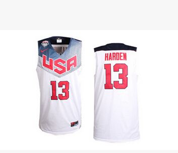 Nike 2014 Olympics Team USA 13 James Harden White NBA Jersey  f25205696