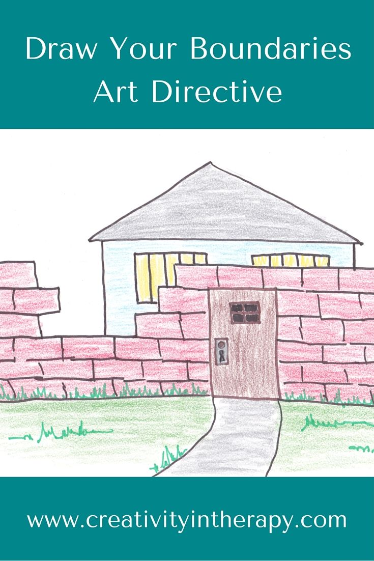 Creativity In Therapy Draw Your Boundaries Art Directive Art