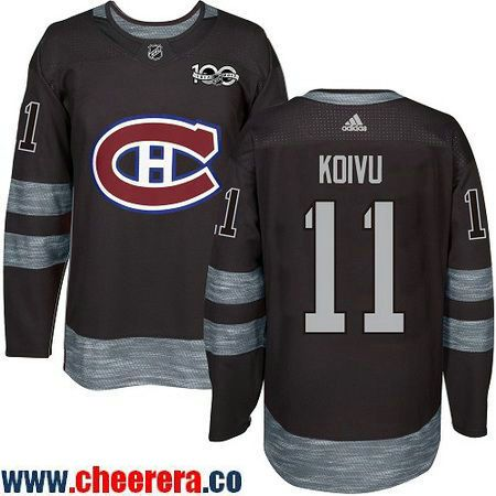 eaacad10325 ... cheap mens montreal canadiens 11 saku koivu black 100th anniversary  stitched nhl 2017 adidas hockey jersey