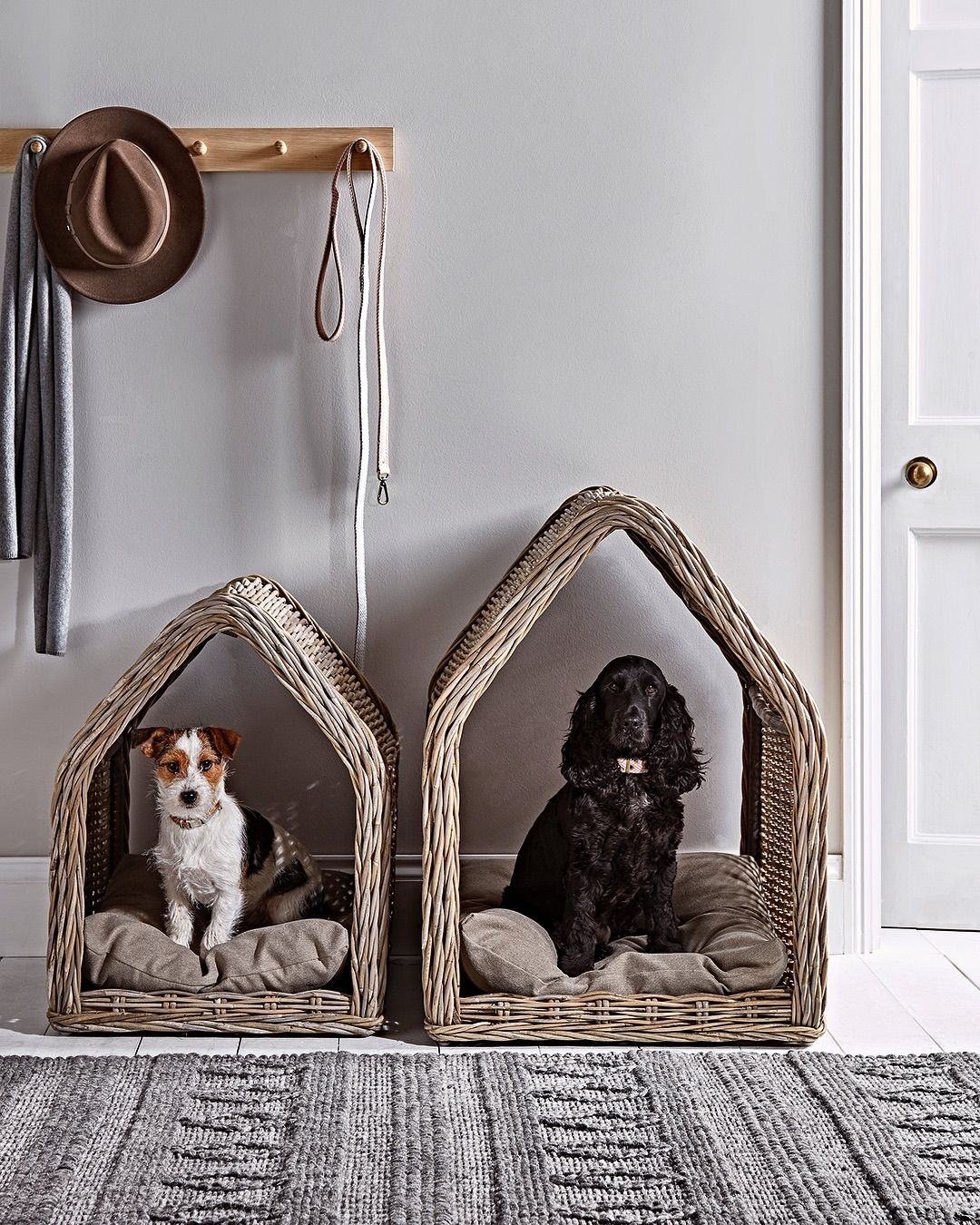 The Sunday Times Home On Instagram The New Collection Of Pet Beds And Accessories From Coxandcox Shares The Same Style An Pet Beds Dog House Bed Dog Bed Mat