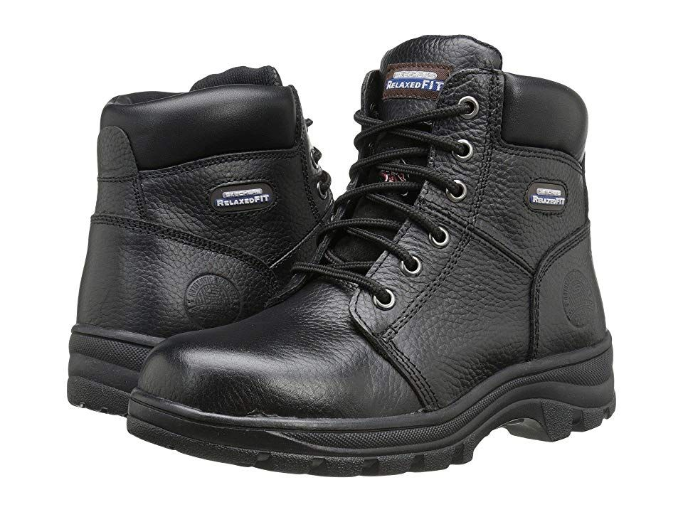 Skechers Work Workshire Peril Black Women S Lace Up Boots