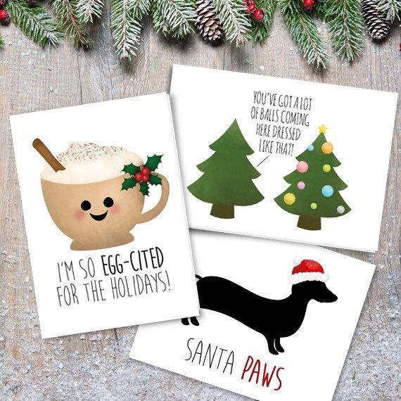Christmas Puns.I M So Egg Cited For The Holidays Digital 5x7 Printable