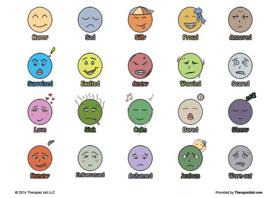 Printable Emotion Faces Preview : pszi : Pinterest ...