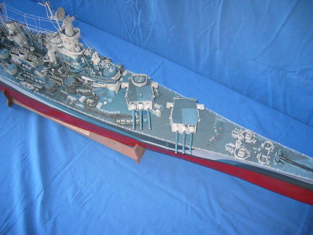 136 106cm WWII USS Missouri Iowa-class battleship Paper Model PDF ...