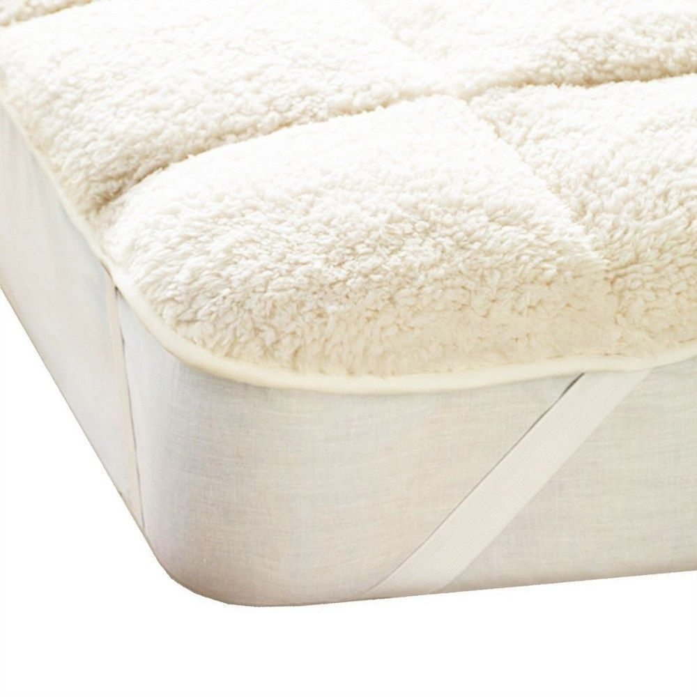 Luxury Super Soft Teddy Mattress Topper Enhancer Single Double King Size Bedding Double King Size Bed Mattress King Size