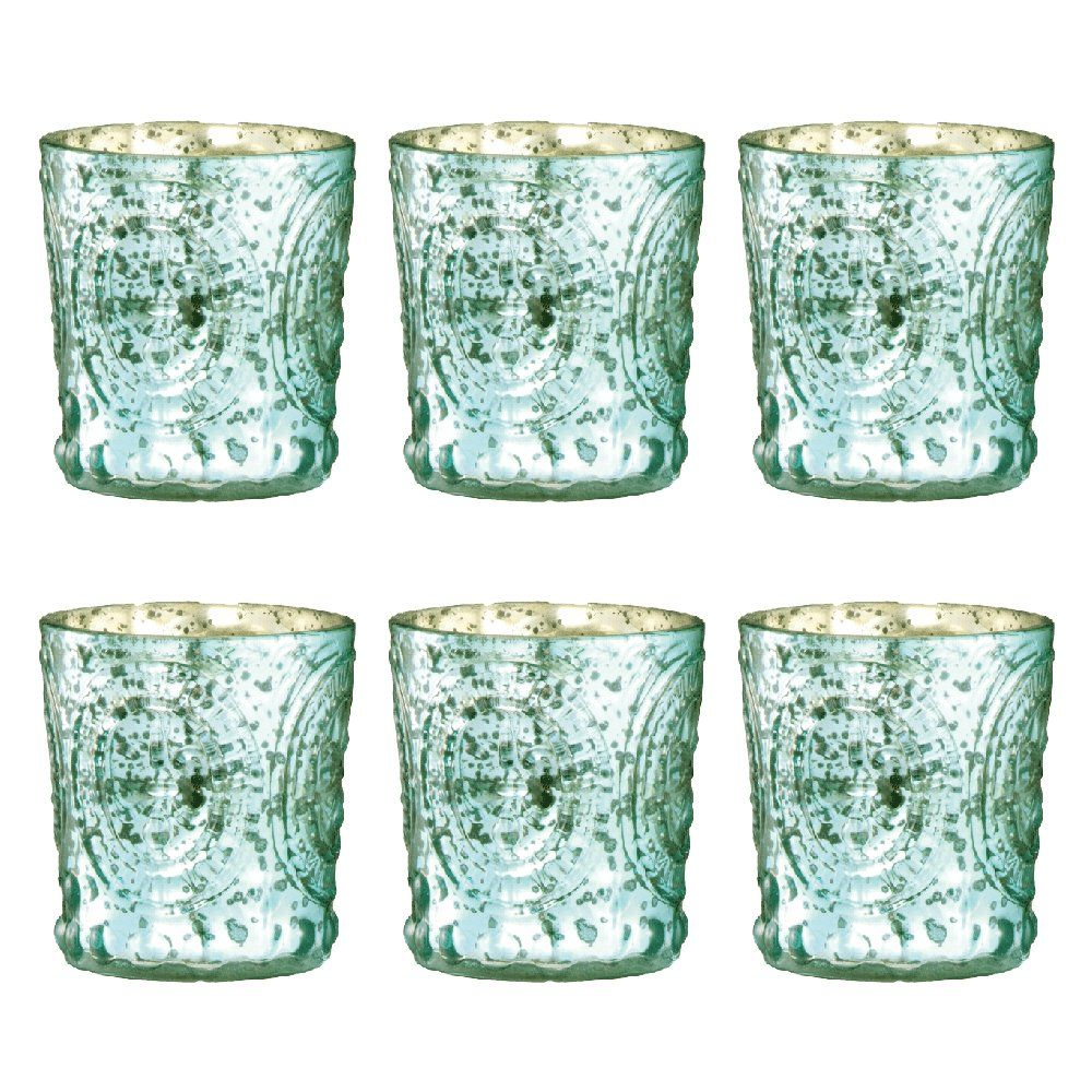 Amazon antique style mint mercury glass votive set of six