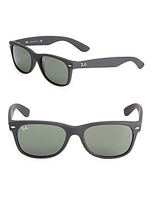 Ray-Ban 55MM New Wayfarer Sunglasses - Black - Size No Size ... 36da61dc5b1