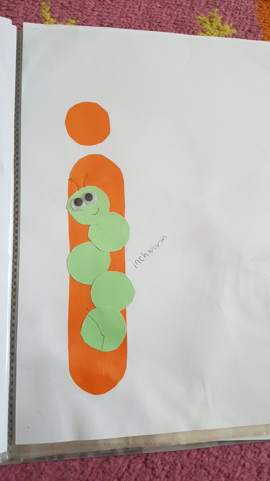 Letter I Inch Worm English Letters Craft For Kids