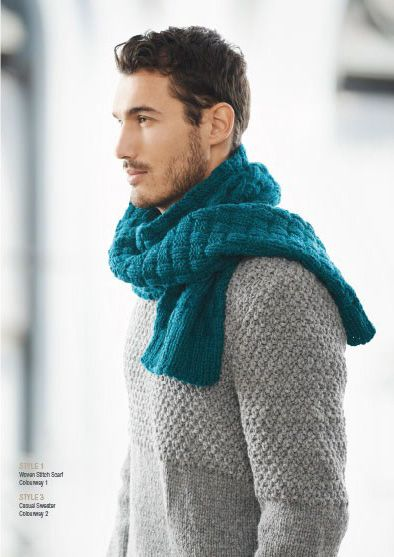 Chunky Hand Knitted Scarf And Sweater From Patons Australia In