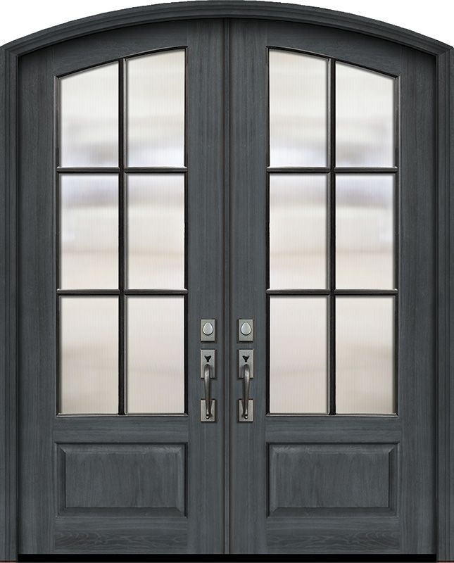 Arch Top Exterior French Patio Door 1 3 4 By Glasscraft In Double Door Made Of Fiberglass And The Grain Is M In 2020 French Doors Patio Mahogany Doors French Patio