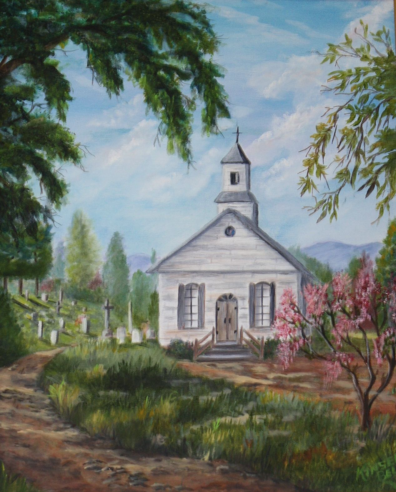 Drawings Of Old Country Churches