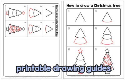 How To Draw A Christmas Tree Step By Step Drawing Tutorial Easy Peasy And Fun Christmas Tree Drawing Christmas Tree Step By Step Drawing