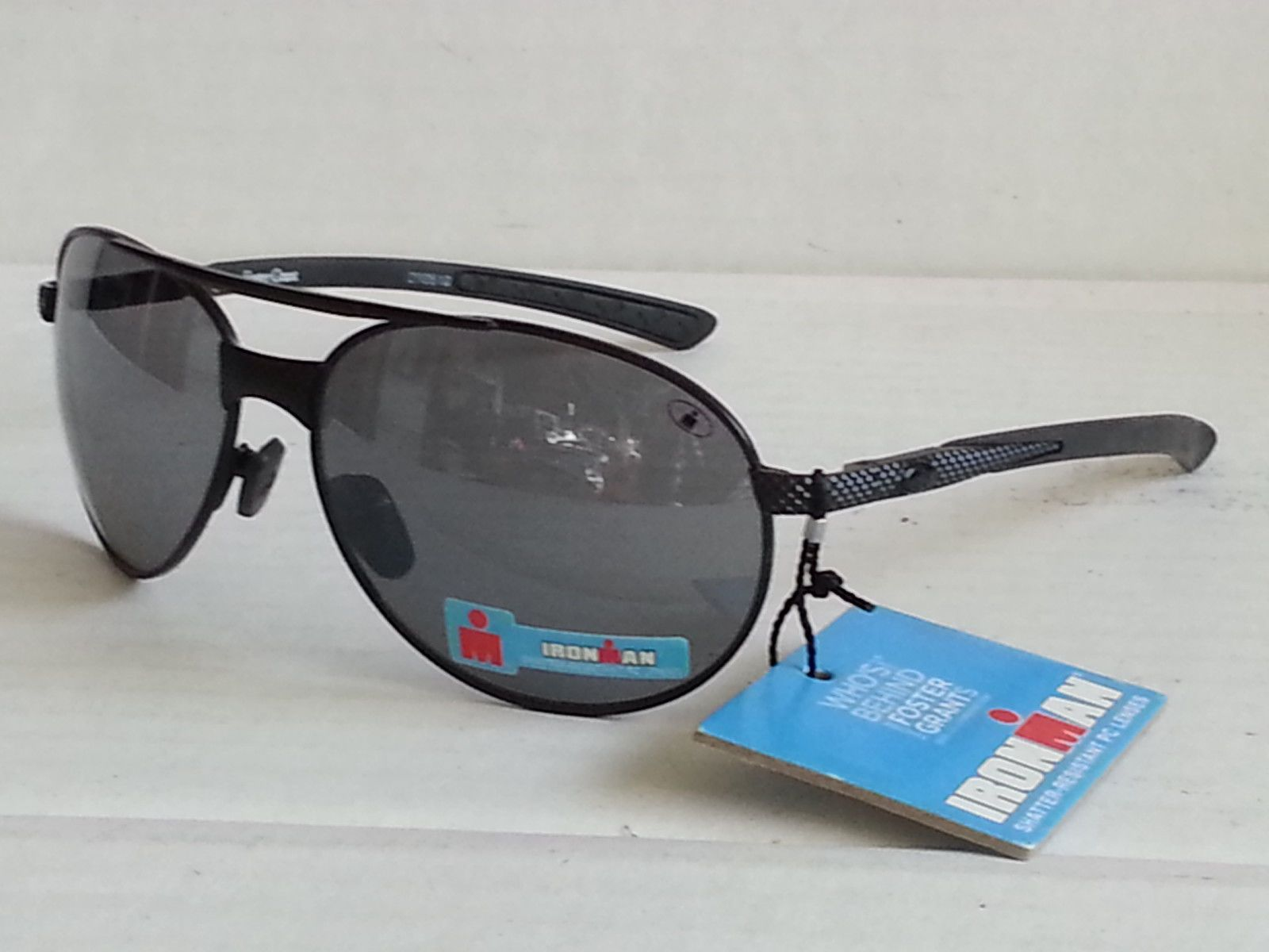 e35aba9cd89  ebay Ironman aviator Sport sunglasses black mirrored shatter resistant  lens NWT withing our EBAY store