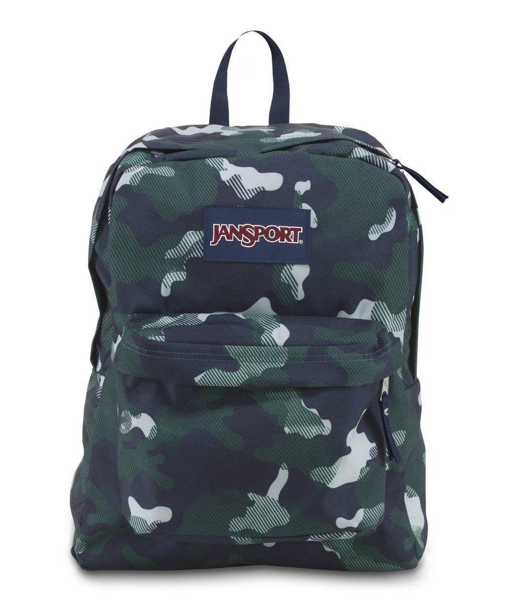 JANSPORT SUPERBREAK BACKPACK SCHOOL BAG - Navy Streaky Camo ...