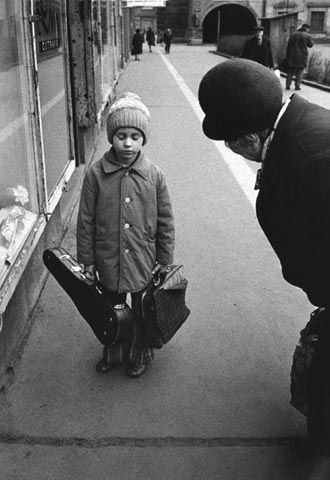 He doesn't sound too enthusiastic about violin...or school...or both of them // Viktor Kolar, from series OSTRAVA 1975