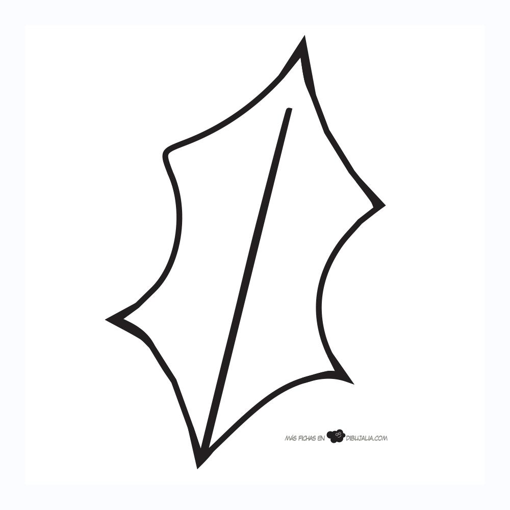 Siluetas de hojas de acebo – Dibujalia Blog | moldes | Pinterest ...