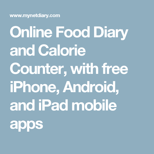 Online Food Diary and Calorie Counter, with free iPhone