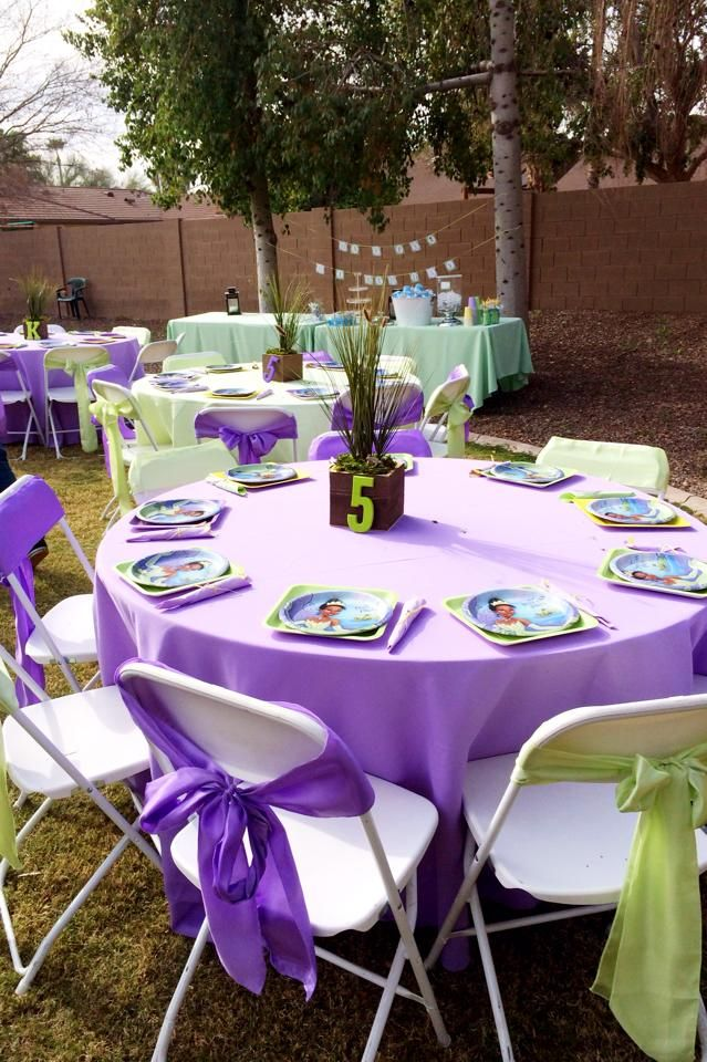 Birthday set up for our Princess and the Frog party www ...
