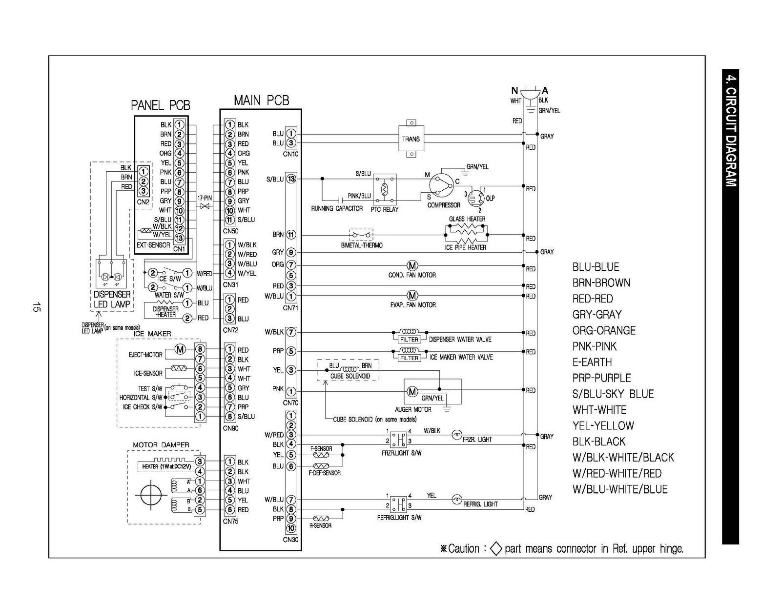 ge refrigerator schematic diagram