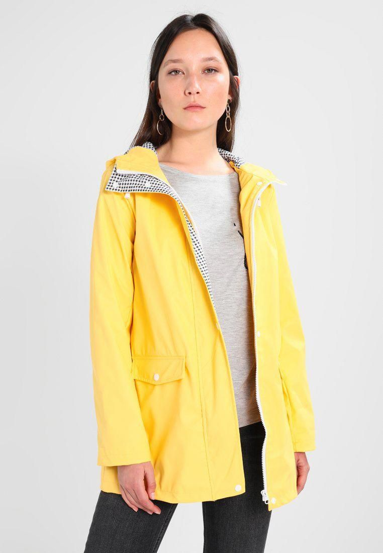 beautiful and charming best sell superior materials Dorothy Perkins BUTTON FRONT RAINCOAT - Parka - yellow ...