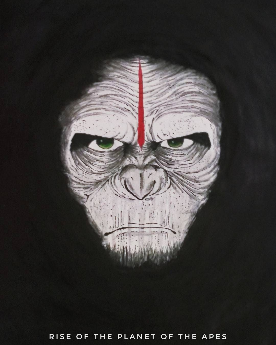 Meet Ceaser From Rise Of The Planet Of The Apes Artwork Art Planetoftheapes Picoftheday Manga Anime Blackandwhit Planet Of The Apes Artwork Art