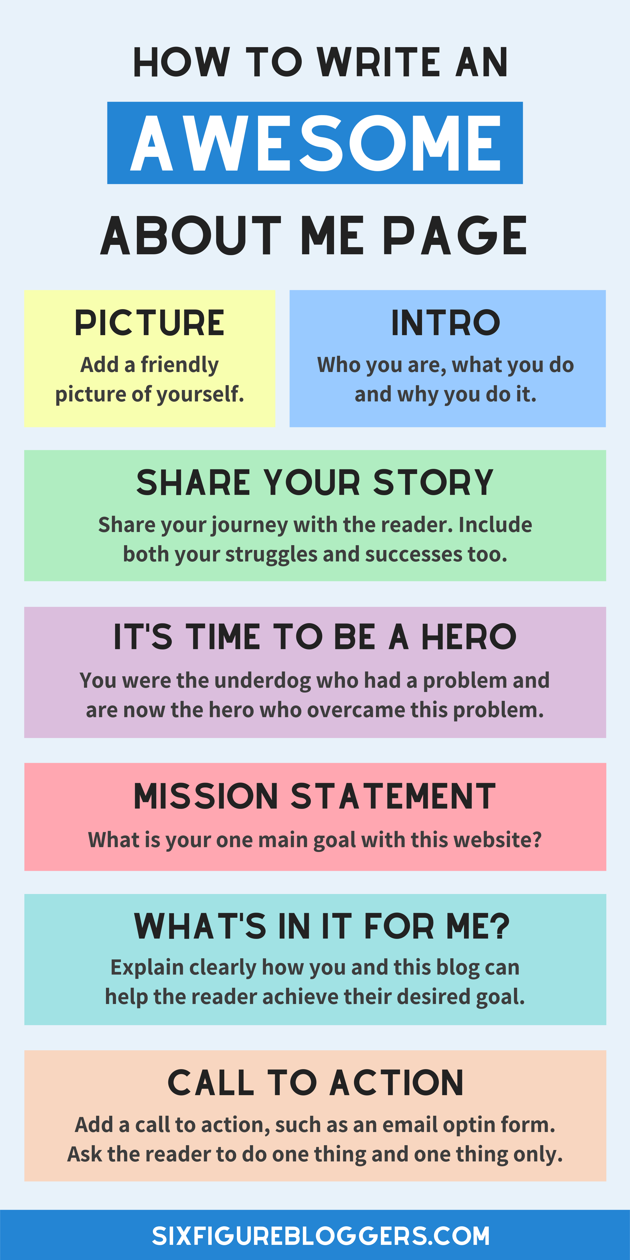 How to Write an About Me Page for a Blog (Free Template)  Blog