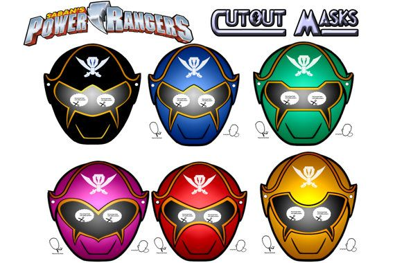 This Listing Is For 6 Power Rangers Printable Masks That