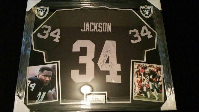 cheap for discount 6df51 91db3 Bo Jackson Framed Raiders Jersey   Framed Football jerseys ...