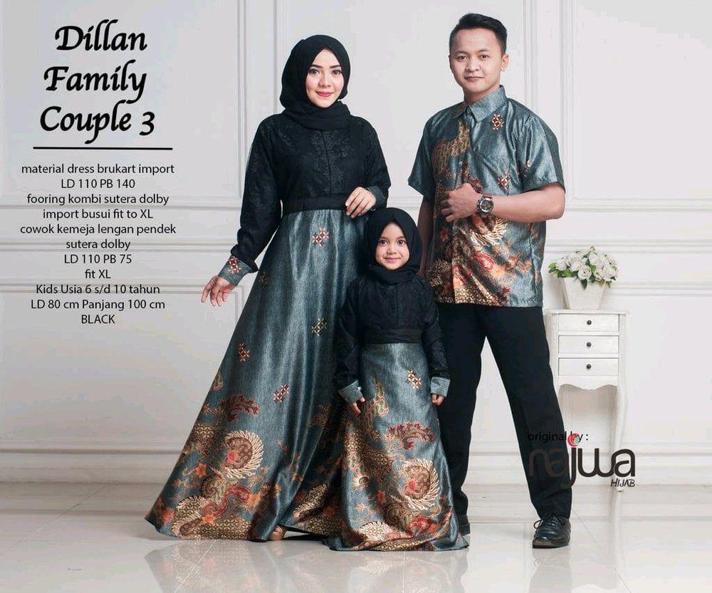Model Baju Batik Couple Ibu Dan Anak Perempuan di 12  Anak