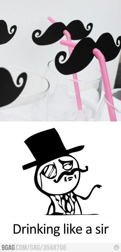 Já que não posso mais usar meu bigode original [Drinking like a sir!]