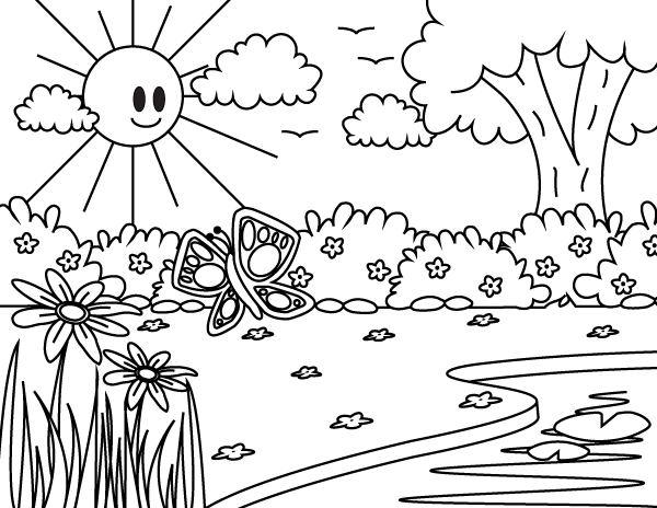 Free Printable Spring Coloring Page Download It At Https Museprintables Com Download Coloring Pag Coloring Pages Coloring Pages Nature Spring Coloring Pages
