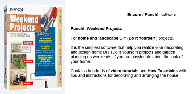Punch Weekend Projects For Home And Landscape Diy Do It Yourself Home Design Software House Design Landscape Design Software