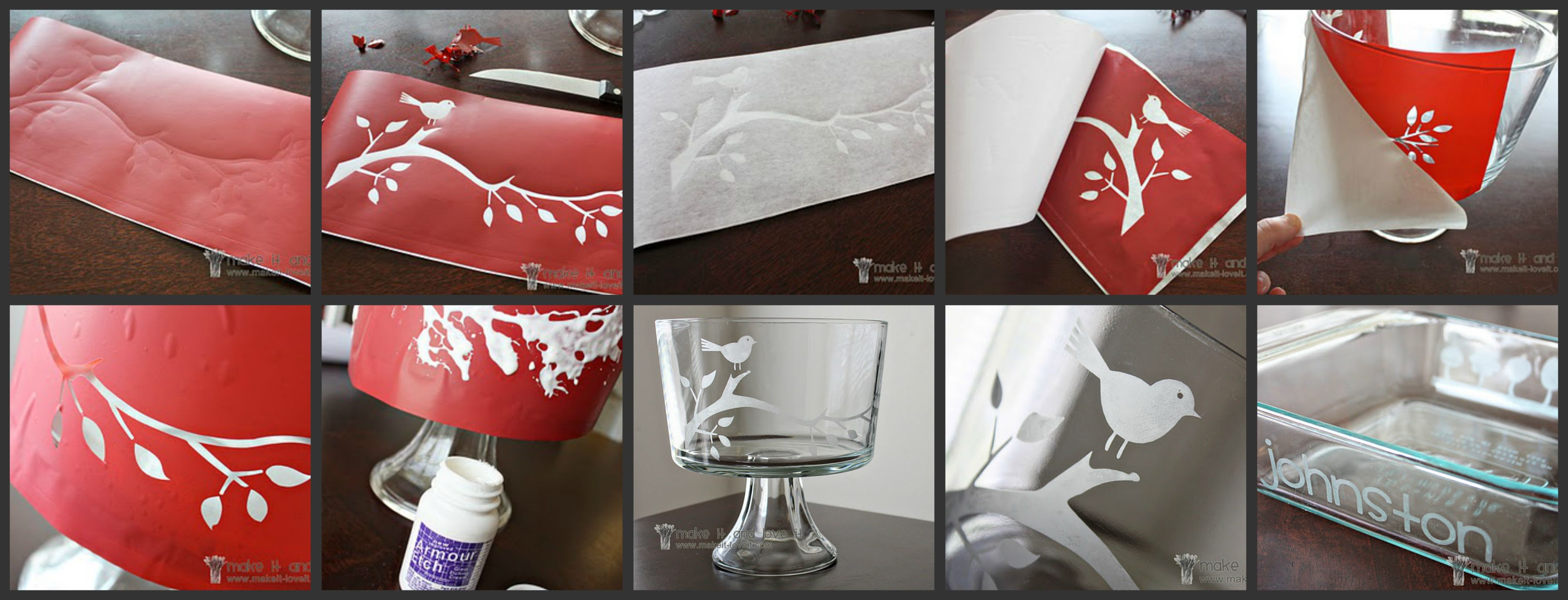 Glass Etching...(This technique permanently etches your