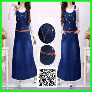 Maxi dress jeans terbaru