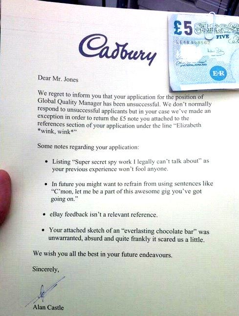 Greatest Employment Rejection Letters EVER! - Social Talent - employment rejection letter
