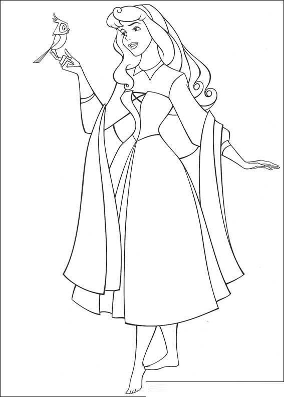 Beauty Princess Aurora Coloring Pages | Coloring pages | Pinterest ...