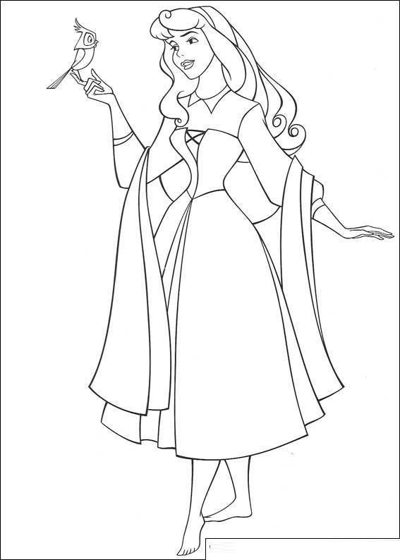 Beauty Princess Aurora Coloring Pages Kiga Malvorlagen Vorlagen