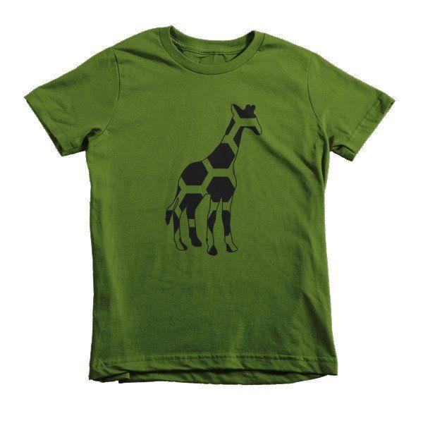 Dot Giraffe Short sleeve kids t-shirt $24.50 #AfricanPrint #T-SHIRT #AFRICANROOTSSHOP #Giraffe #Green #t-shirt #Kids