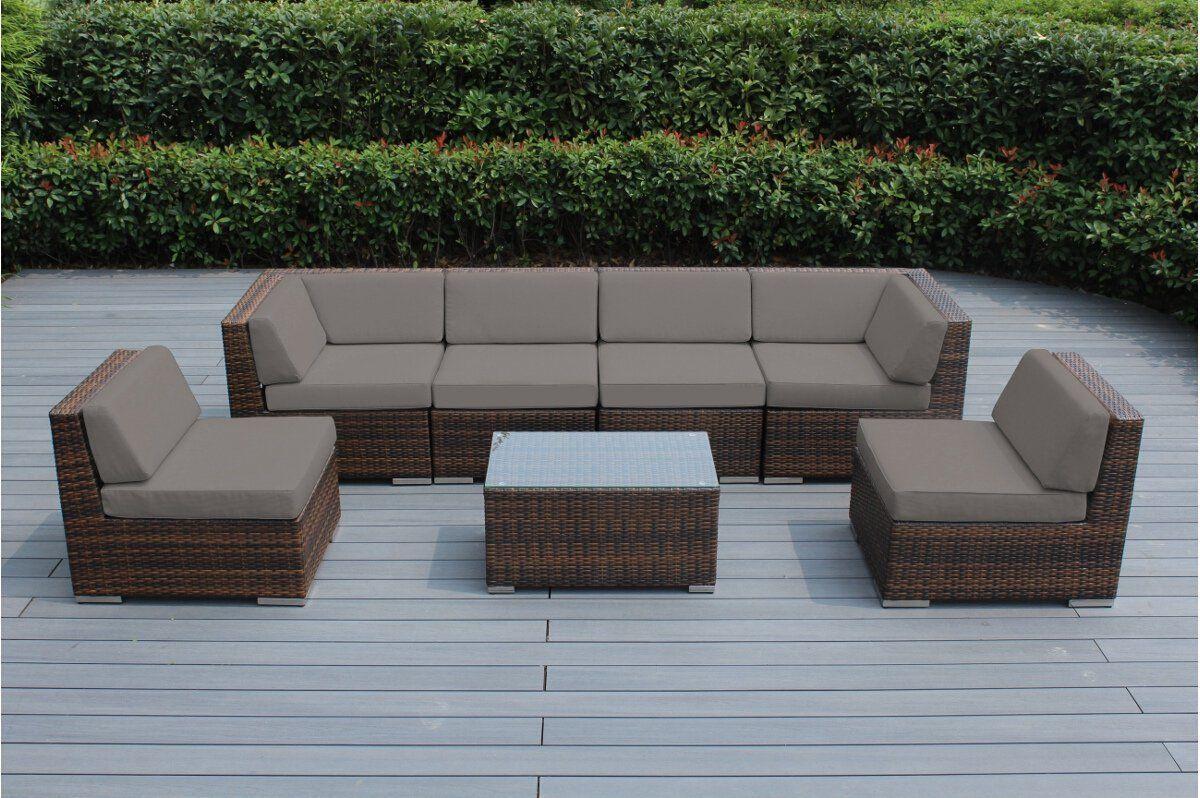 Amazon Com Genuine Ohana Outdoor Patio Sofa Sectional Wicker