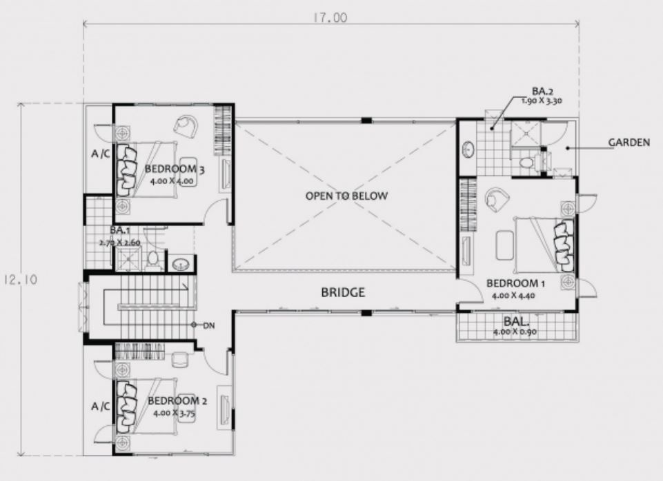 Home Design Plan 17x13m With 4 Bedrooms Home Design Plan Flat Roof House Designs House Layout Plans
